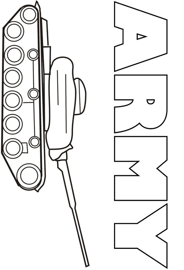 Tank Free Army Coloring Pages