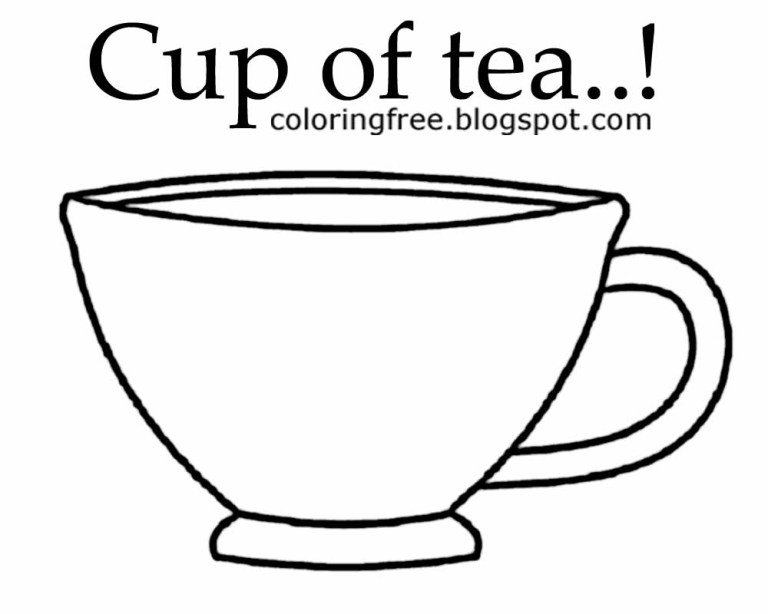 Tea Cup Coloring Pages