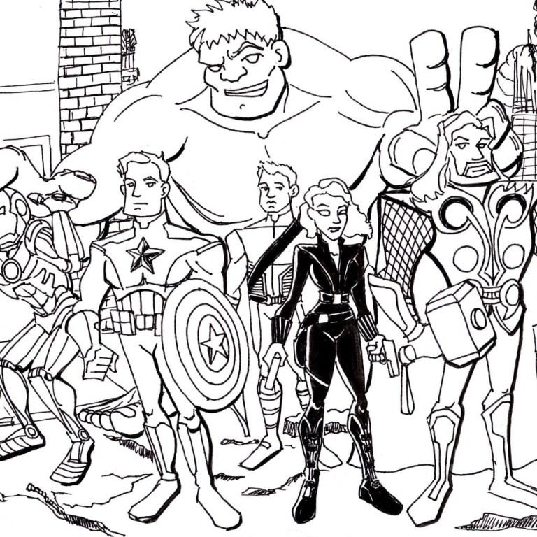 the Avengers Superhero Coloring