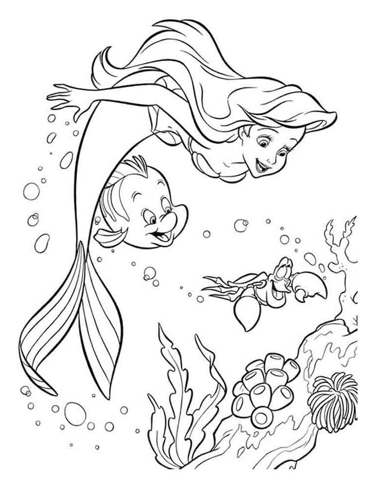 the little mermaid download and printable