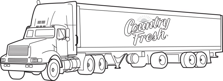 Trash Truck Coloring Page