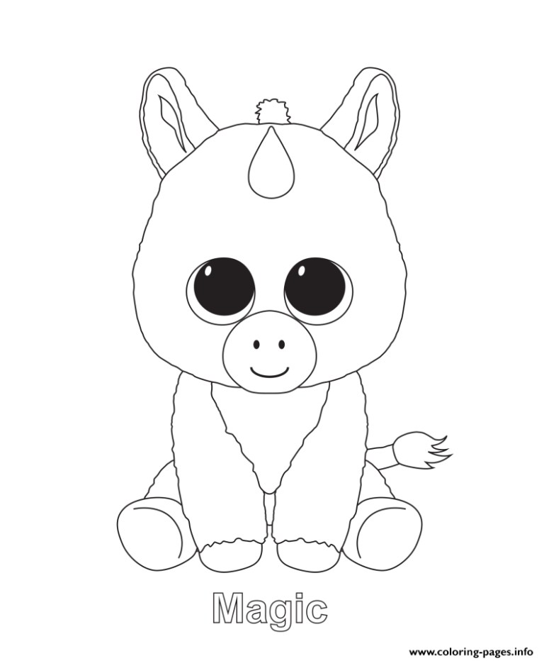 Ty Beanie Baby Coloring Pages