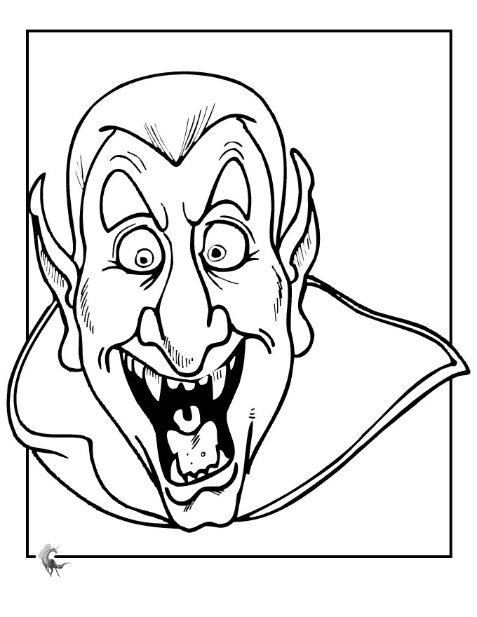 Vampire Girl Coloring Pages