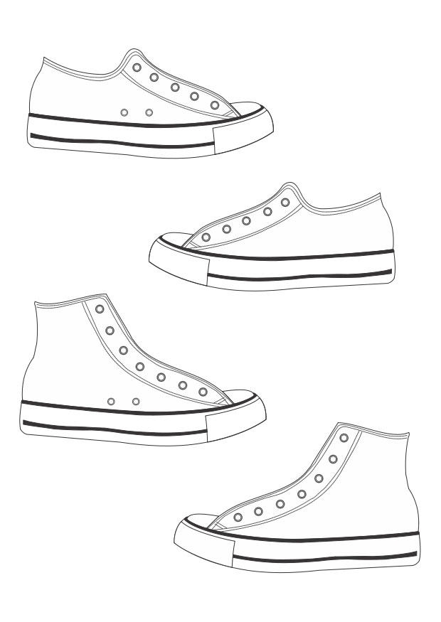vans shoe coloring page free printable