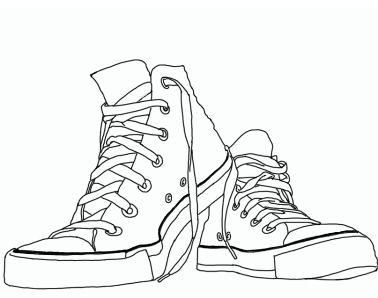 vans shoe rubber pattern bottom coloring page