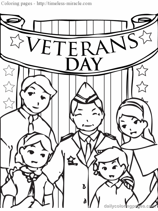 Veteran Day Coloring Pages