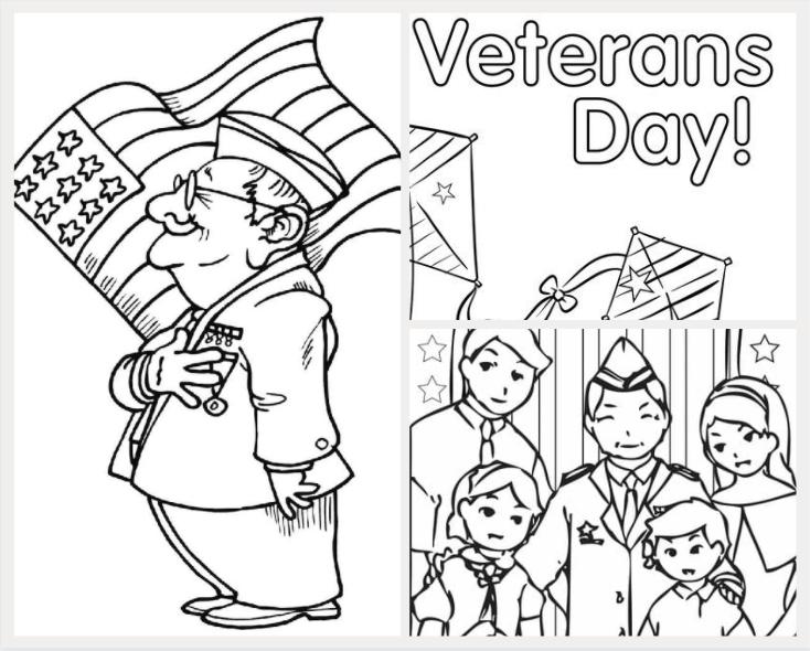 veterans day coloring sheet