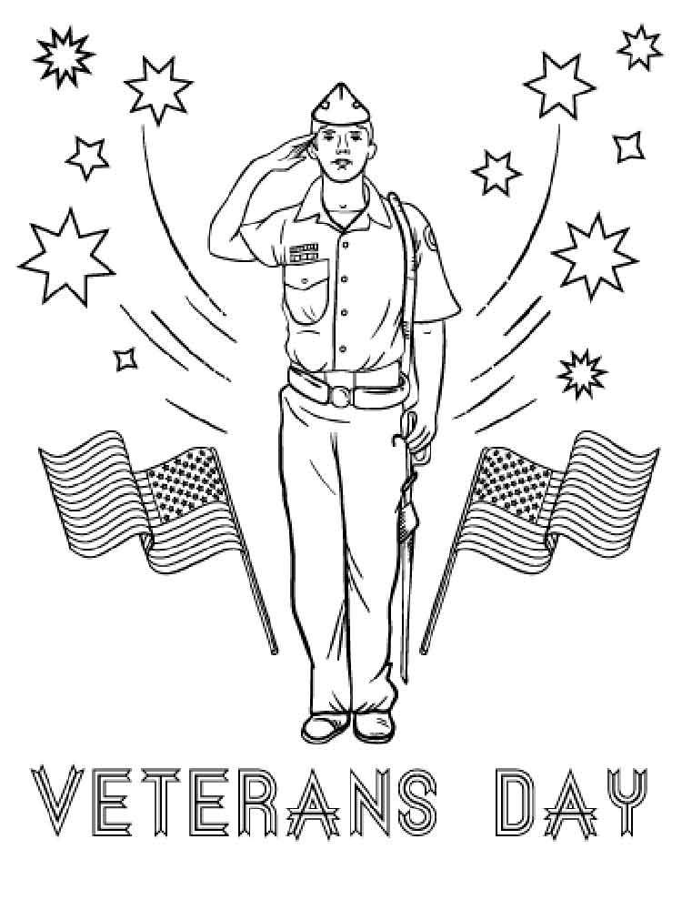Veterans Day Coloring Sheets