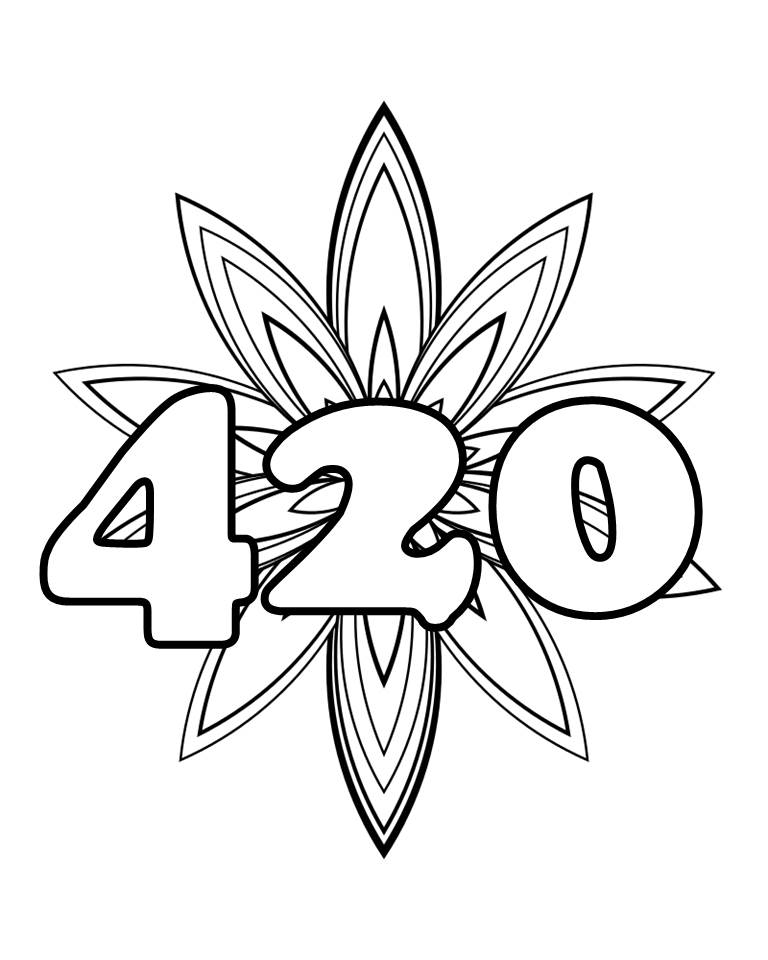 Weed Coloring Page