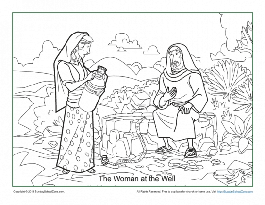 Well Coloring Page