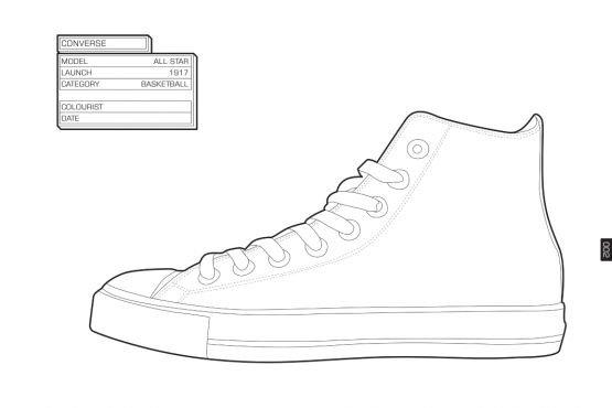 white vans shoe coloring page