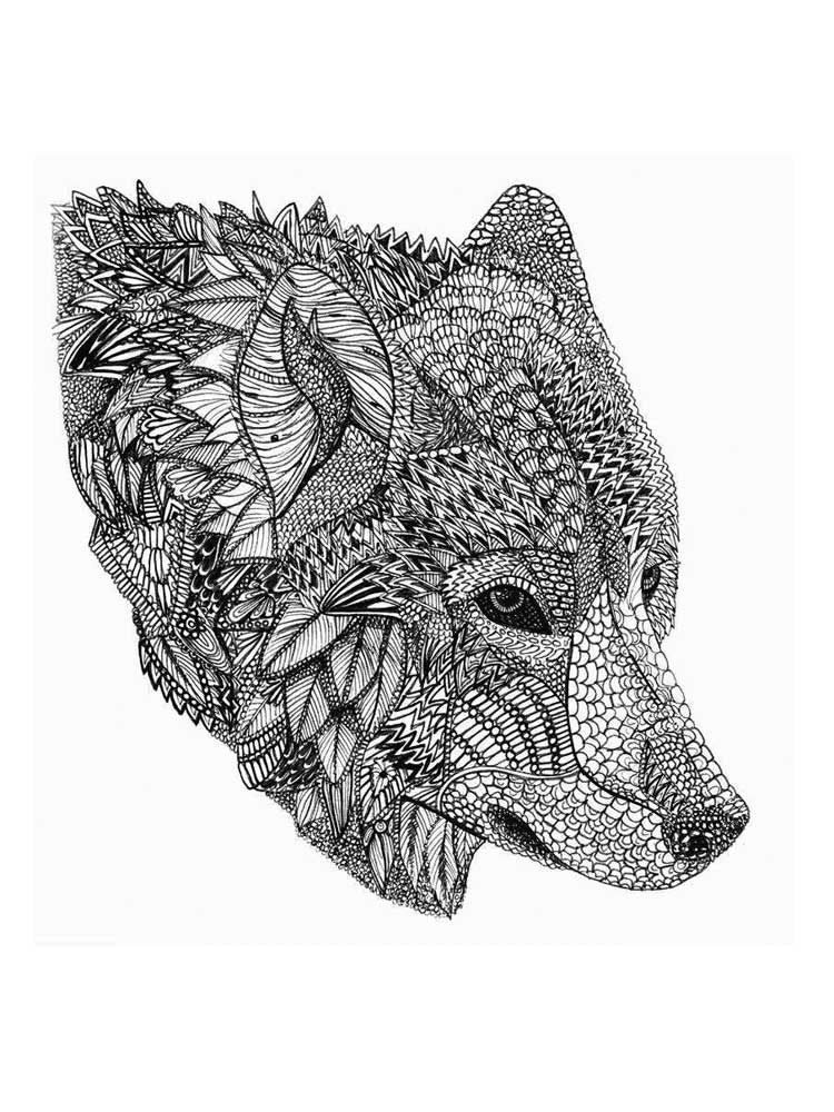winged wolf coloring pages