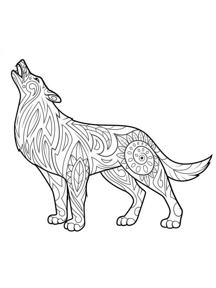 wolf girl coloring pages