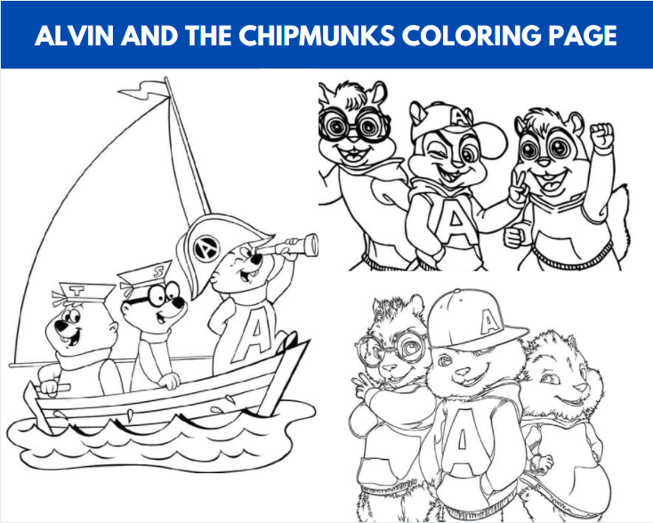 Alvin And The Chipmunks Coloring Page