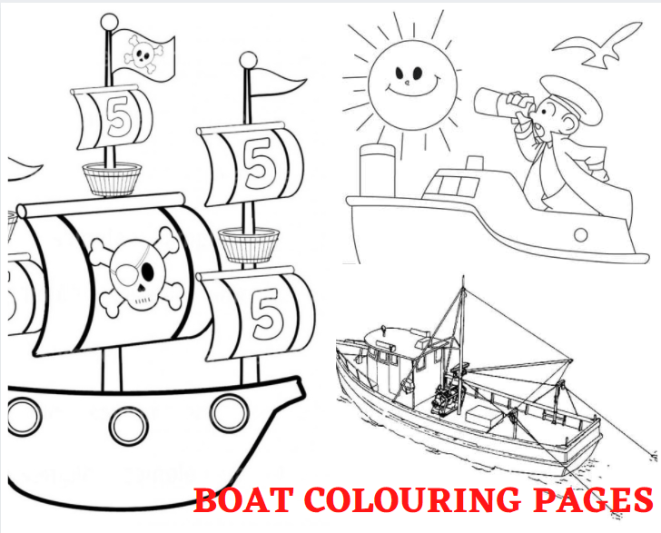 Boat Colouring Pages
