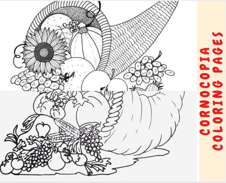 Cornocopia Coloring Page