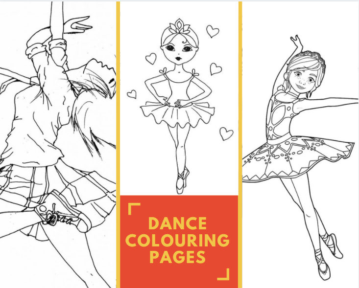 Dance Colouring Pages