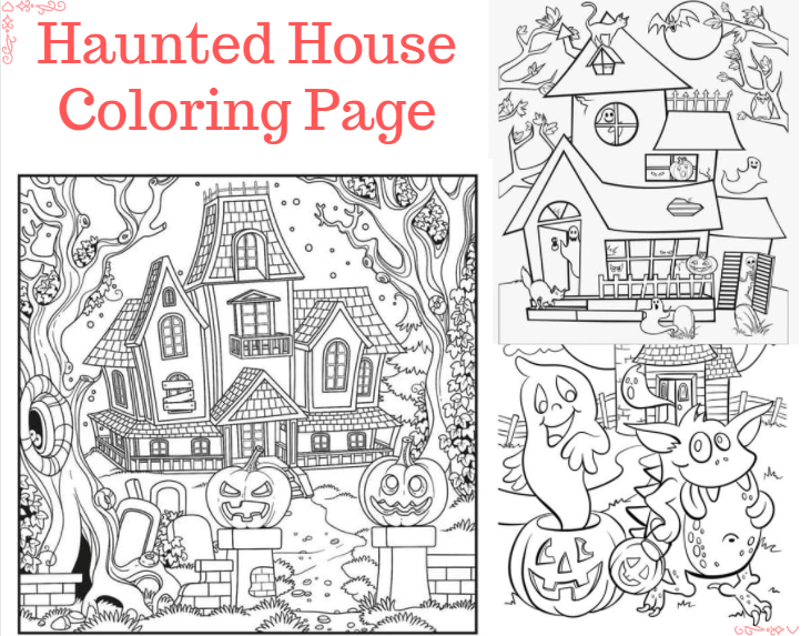 Haunted House Coloring Page