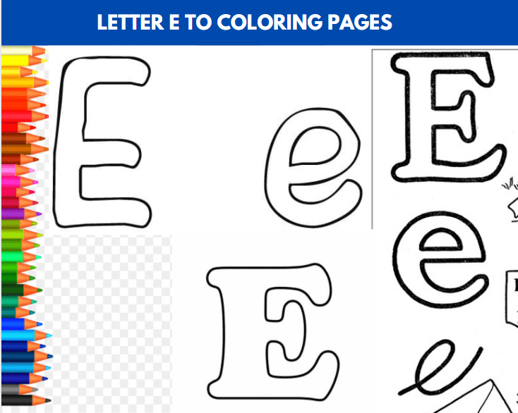 Letter E To Color