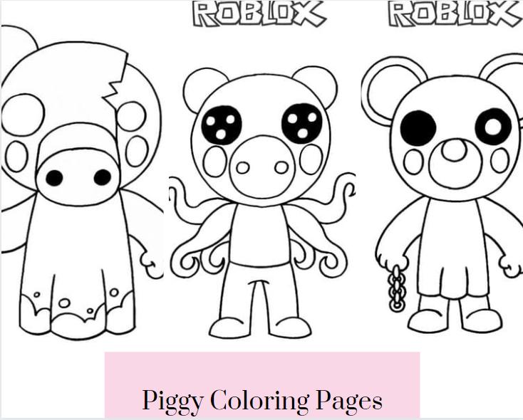 Piggy Coloring Pages