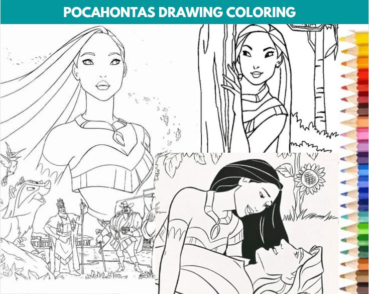 Pocahontas Drawing Coloring