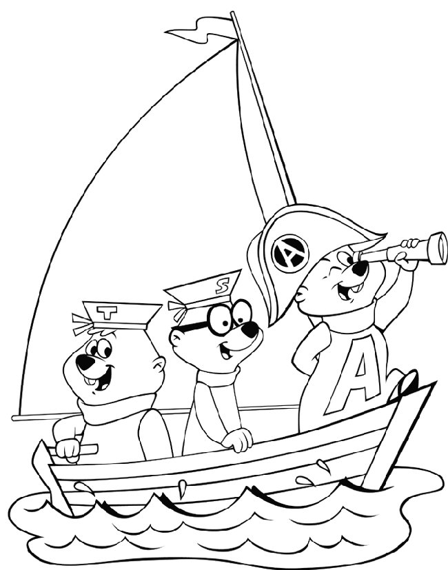 Alvin And The Chipmunks Coloring Sheets