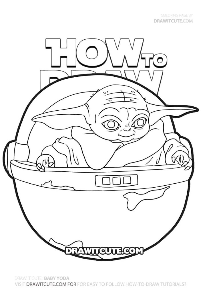 Baby Yoda Coloring Pages Printable