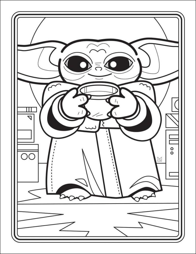 Baby Yoda Coloring Sheets