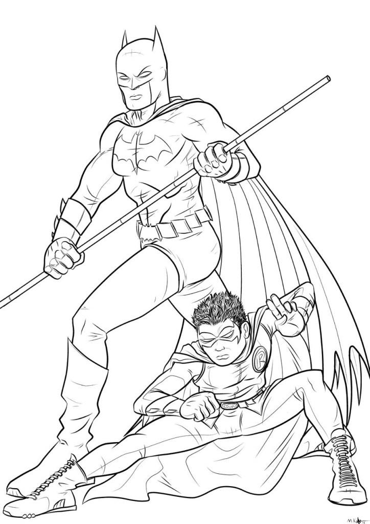 Batman Colouring Pages