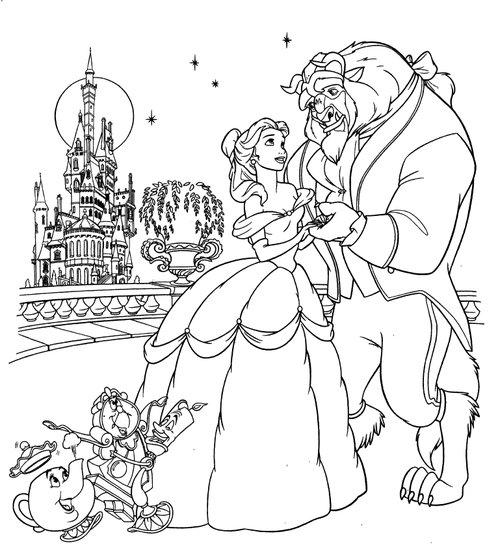 Belle Disney Coloring Pages