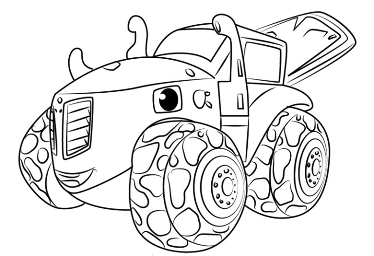Blaze Monster Machine Coloring Page