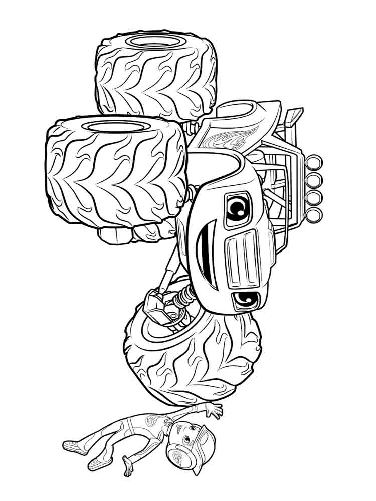 Blaze The Monster Machine Coloring Pages