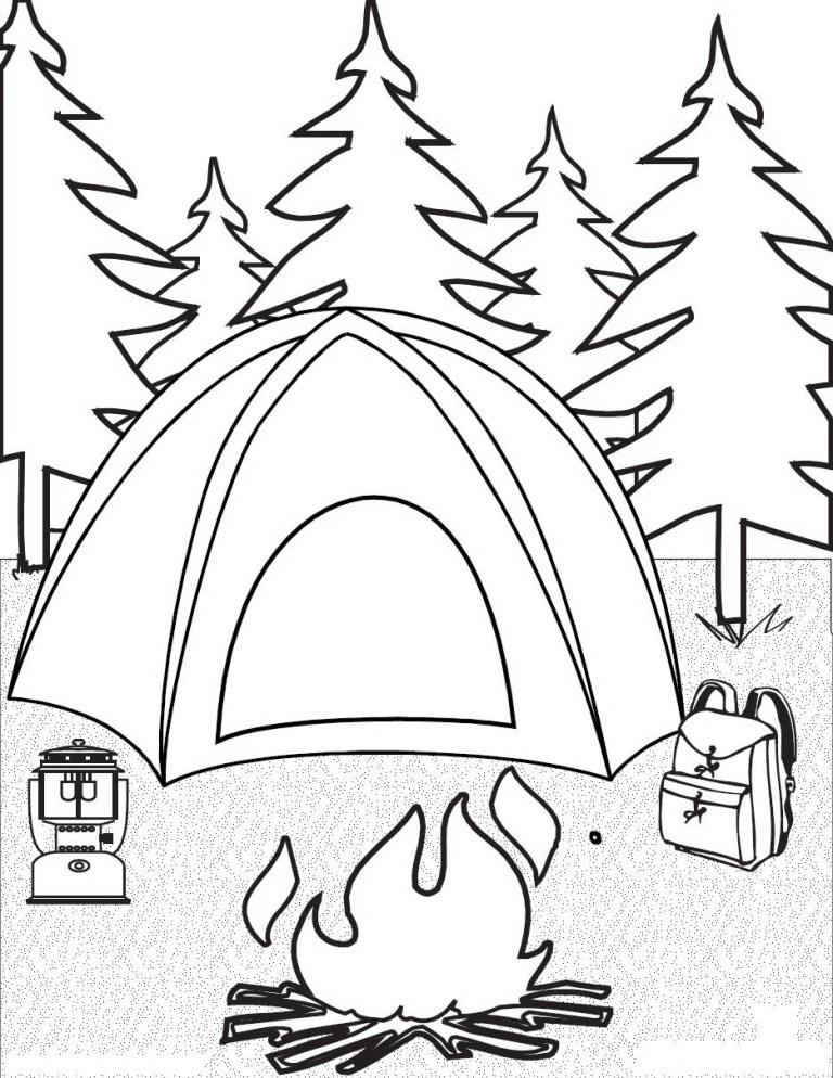 Bonfire Coloring Pages