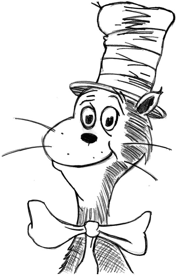 Cat In The Hat Pictures To Color