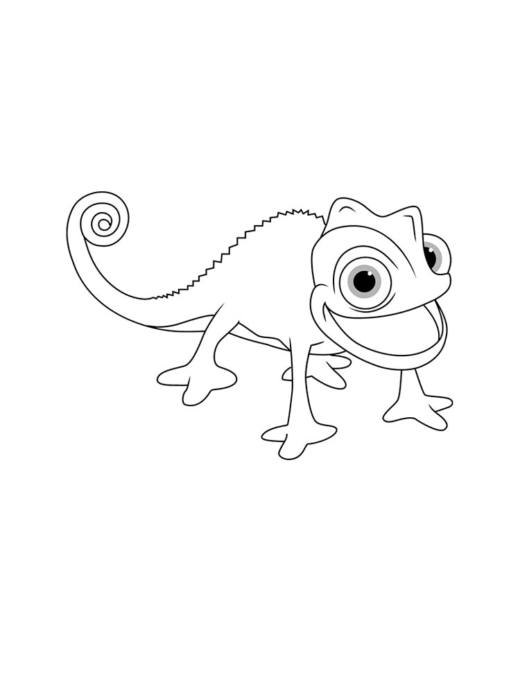 Chameleon Cut Out Template