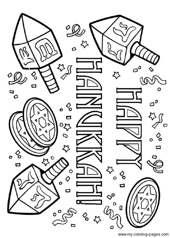Chanukah Coloring Pictures