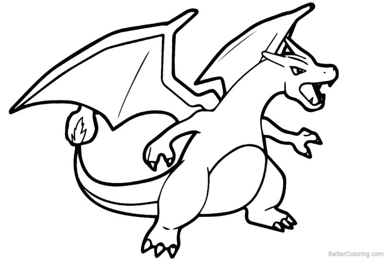 Charizard Pokemon Coloring Page