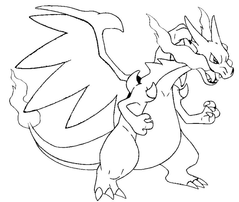 Charzard Coloring Pages