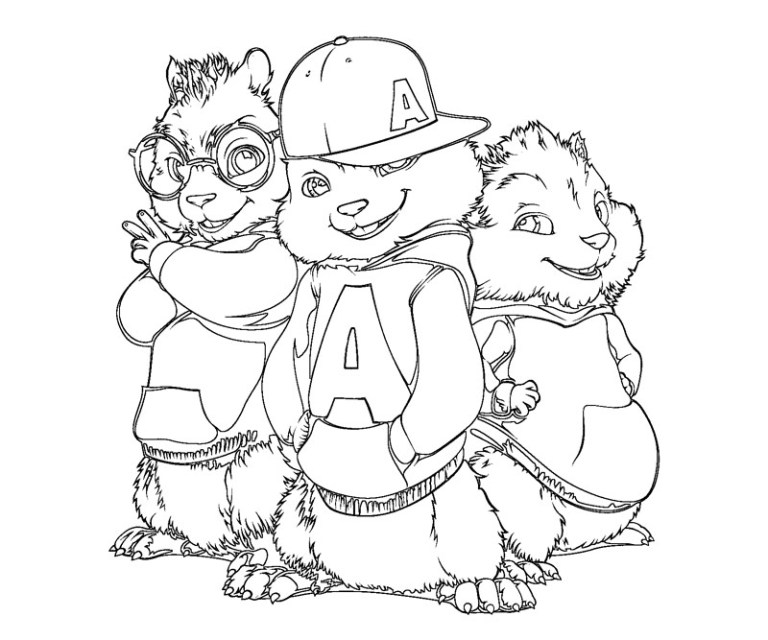 Chipmunk Coloring