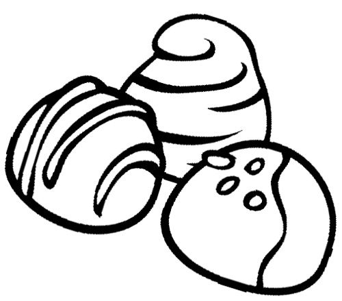 Chocolate Chip Coloring Page