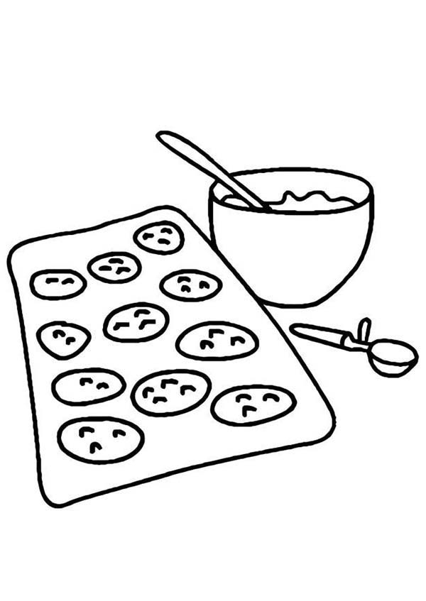 Chocolate Chip Cookie Coloring Page