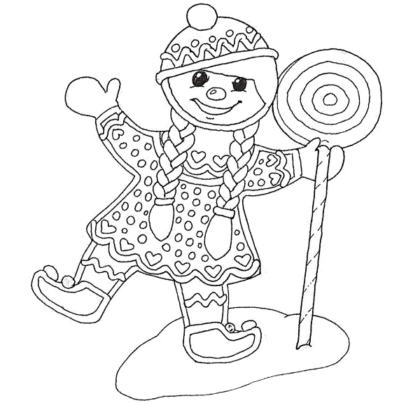 Christmas Coloring Pages Gingerbread