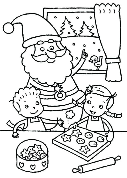 Christmas Cookie Coloring Pages