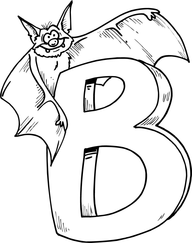 Color The Letter B