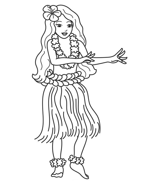 Coloring Page Dancer