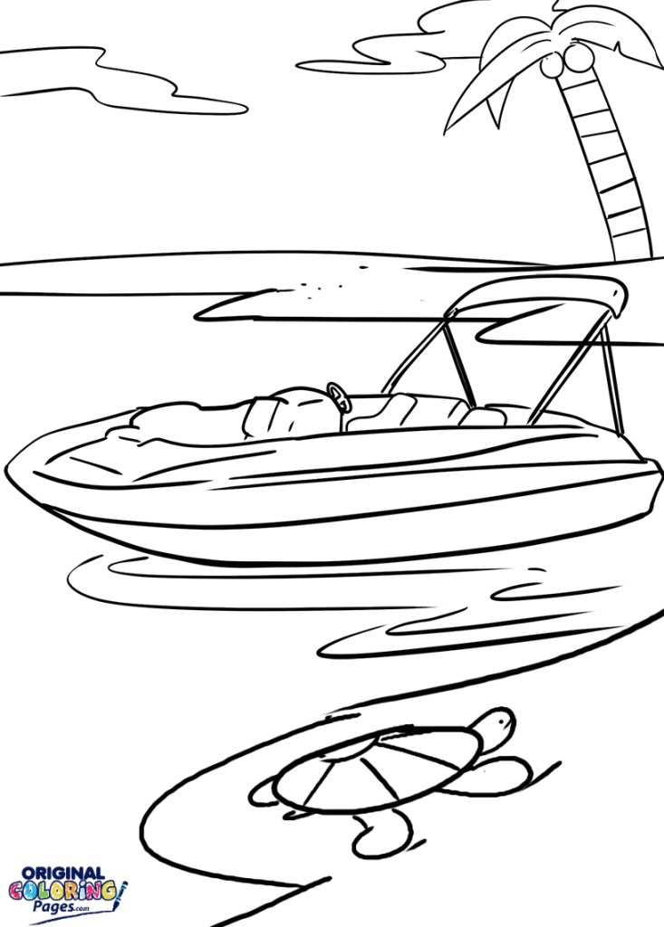 Coloring Pages Boats