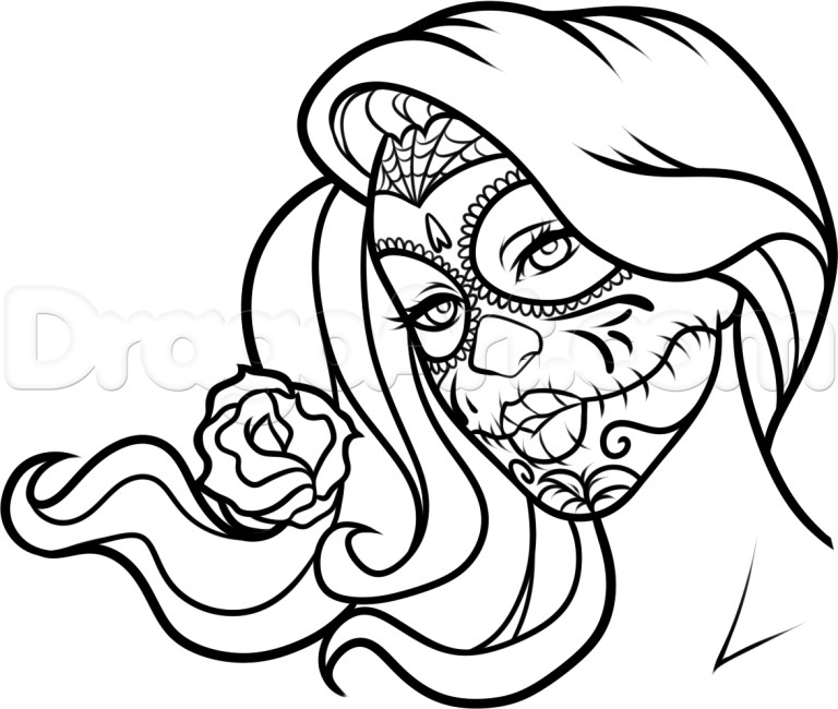 Coloring Pages Day Of The Dead