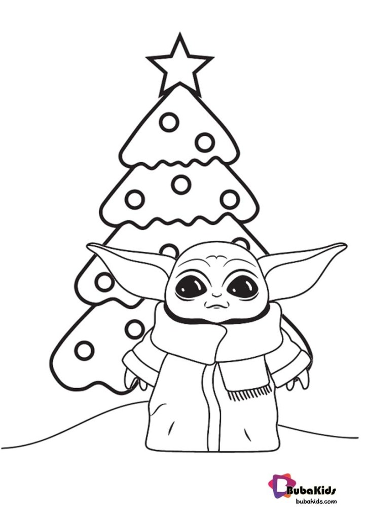 Coloring Pages Of Baby Yoda
