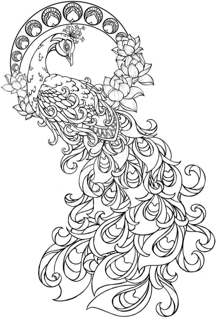 Coloring Pages Of Peacocks