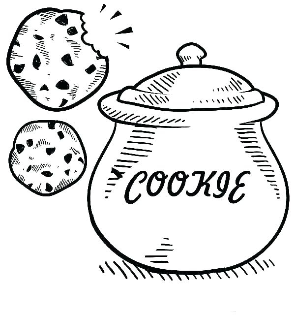 Cookie Coloring Sheet
